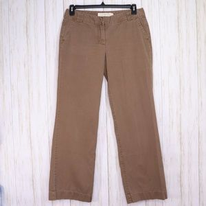 J Crew Brown City Fit Twill Chino Pants Size 8